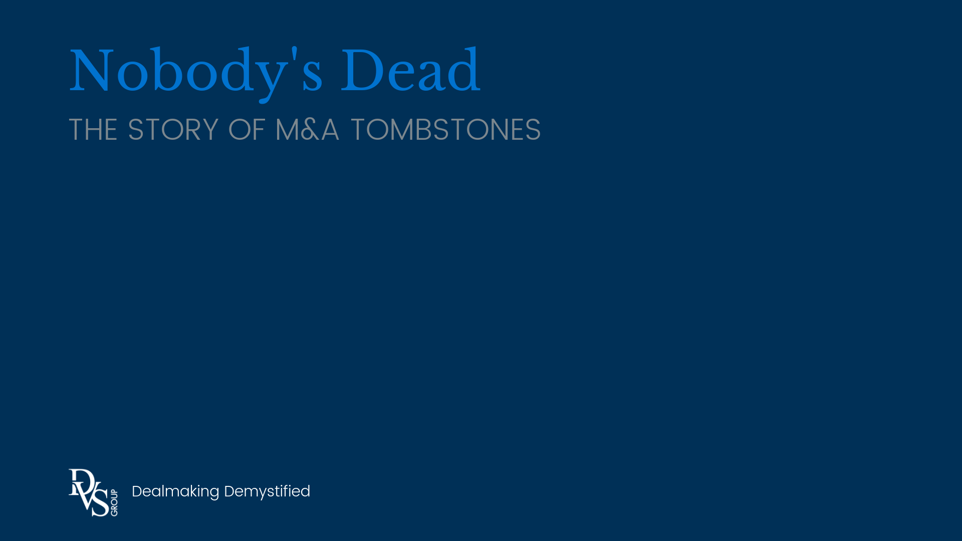 M&A Tombstones
