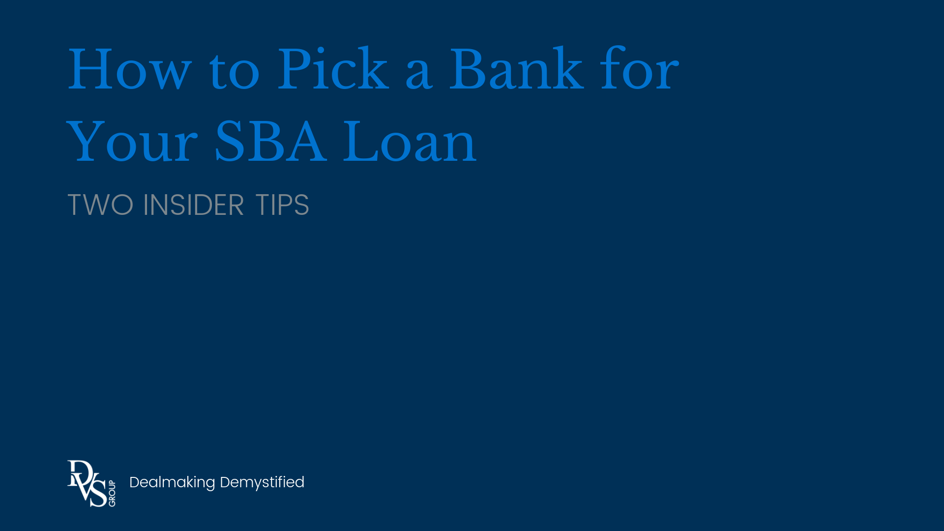Cover Image: How to Pick a Bank for Your SBA Loan