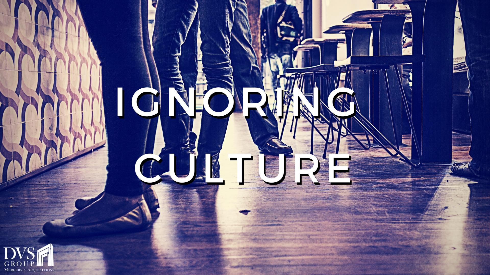 Ignoring Culture