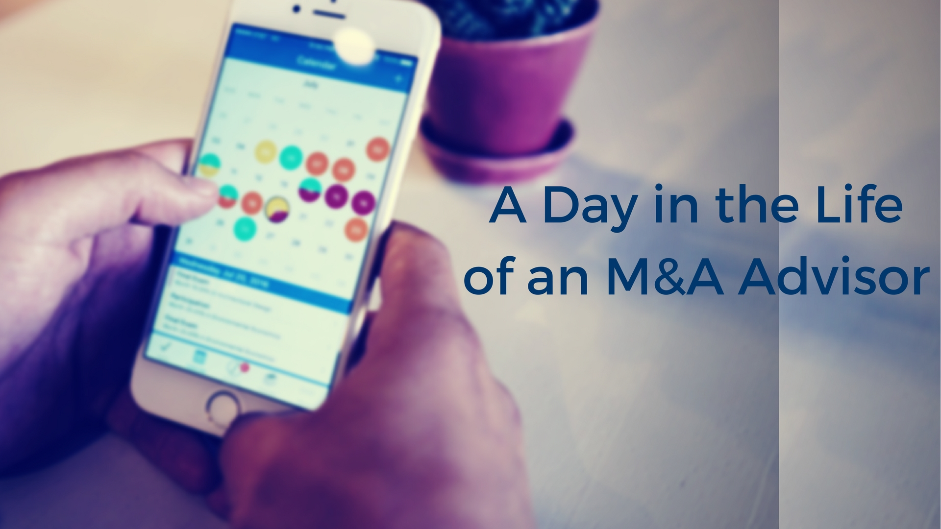 A Day-In-The-Life of An M&A Advisor
