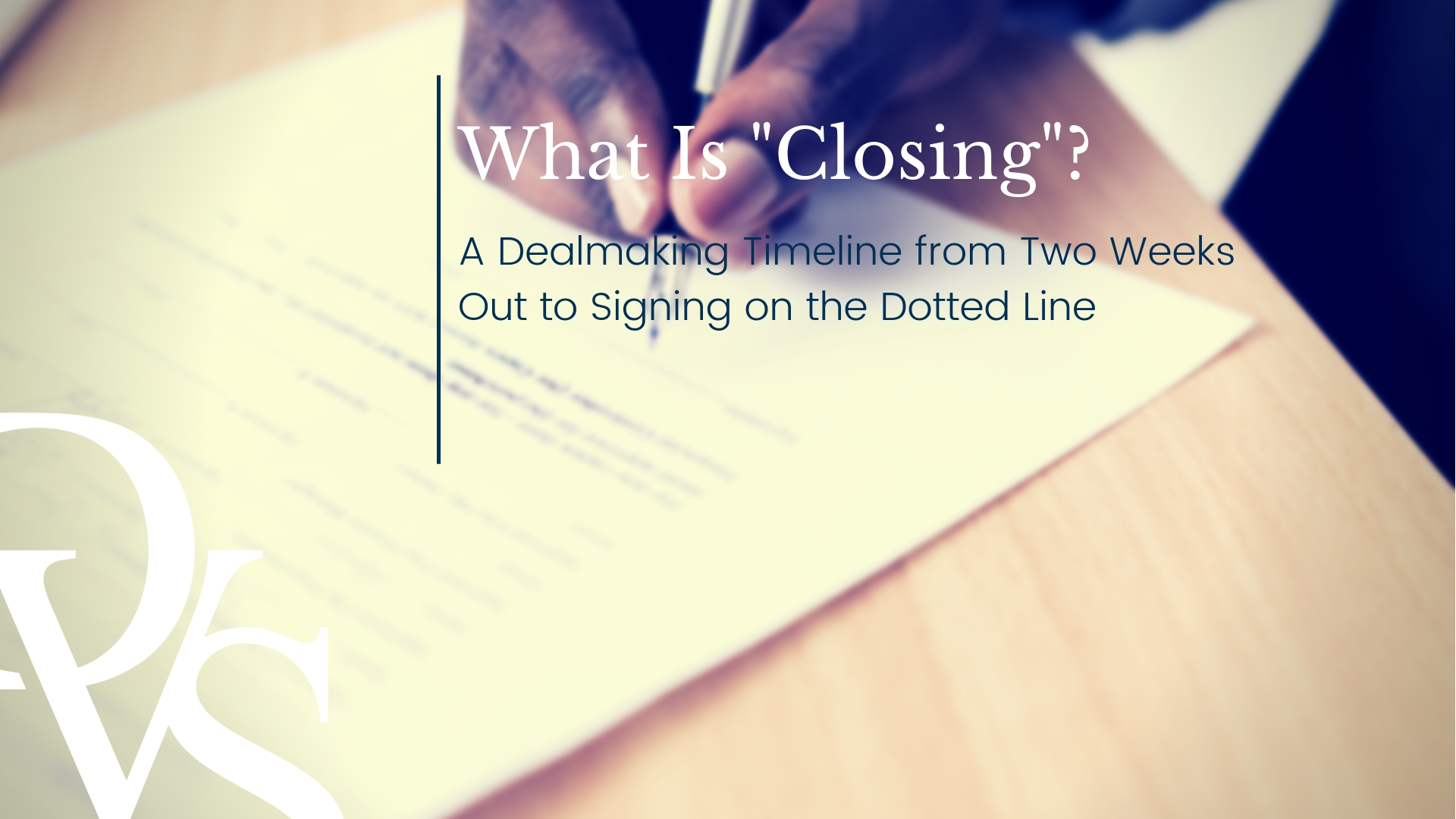 What Is Closing?