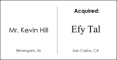 Kevin Hill Acquisition of Efytal