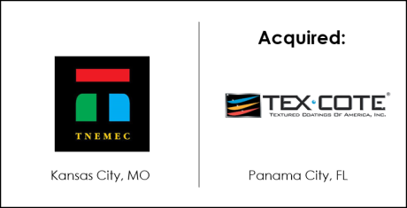 Tnemec Acquisition of Tex-Cote